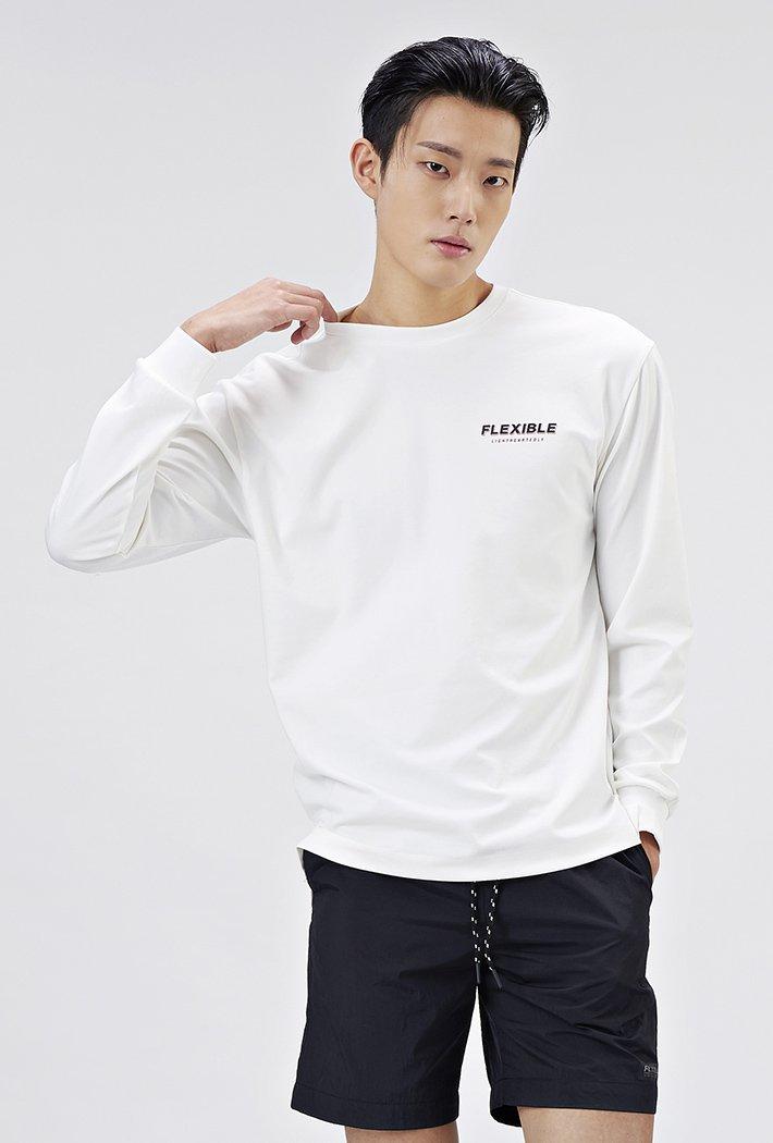 남성 세미오버핏 등판레터링 티셔츠-AAAK5122B0A