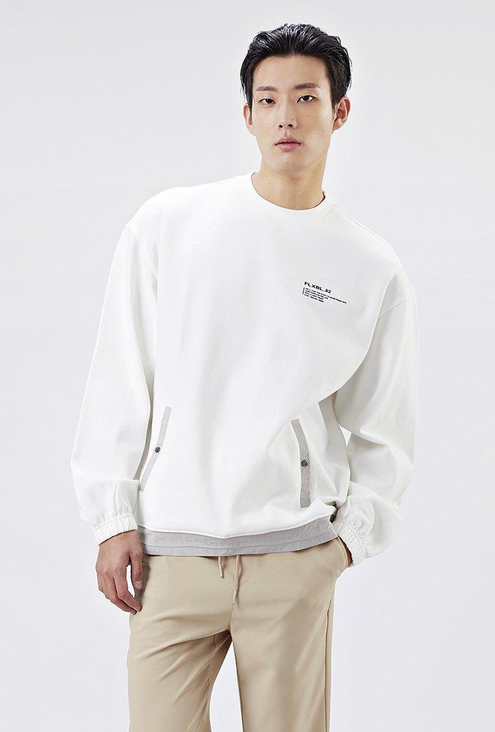 남성 유틸리티 오버핏 스트링 티셔츠-AAAK5126B01