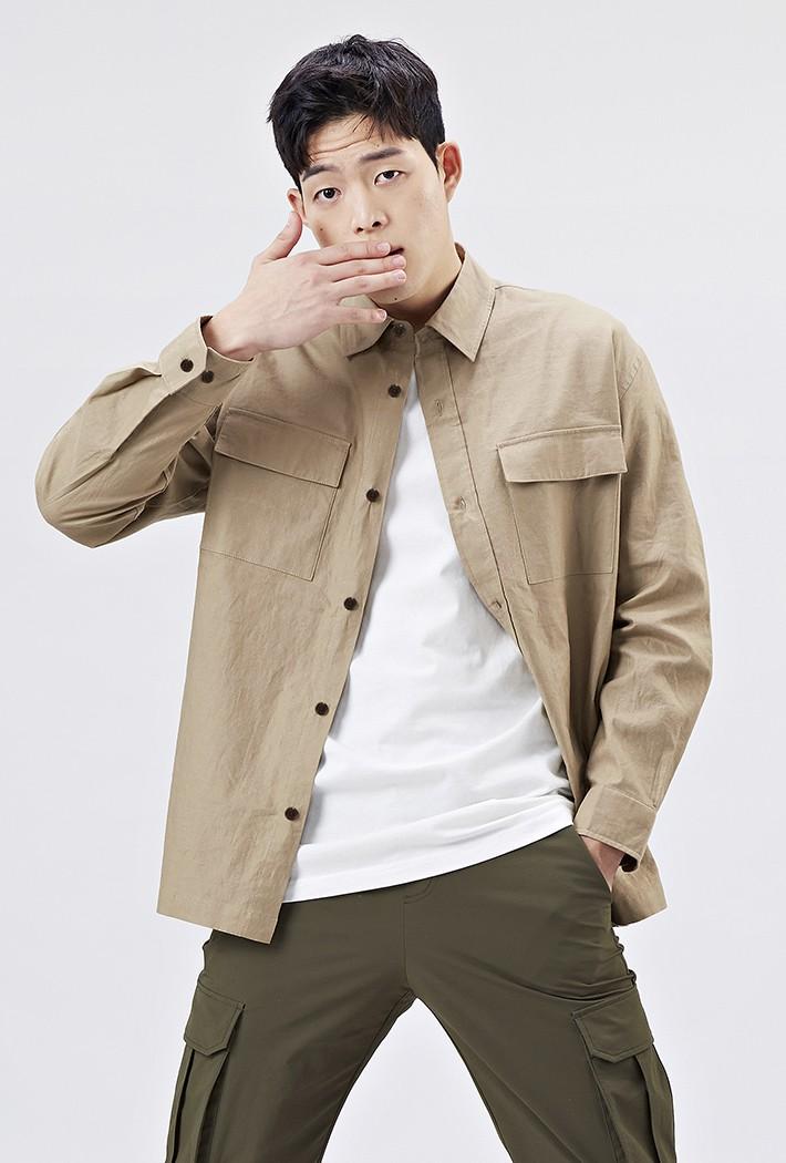남성 오버핏 아우터형 셔츠-AAAK5417B0X