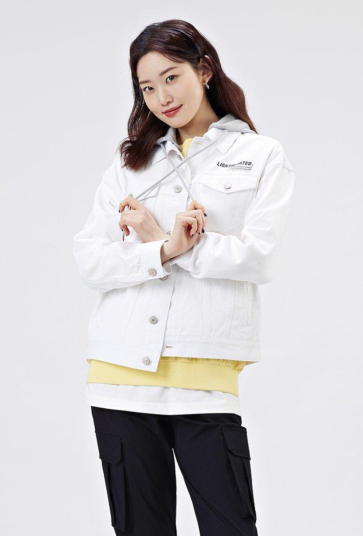 여성 오버핏 후드 트러커 자켓-AAAU1201B01