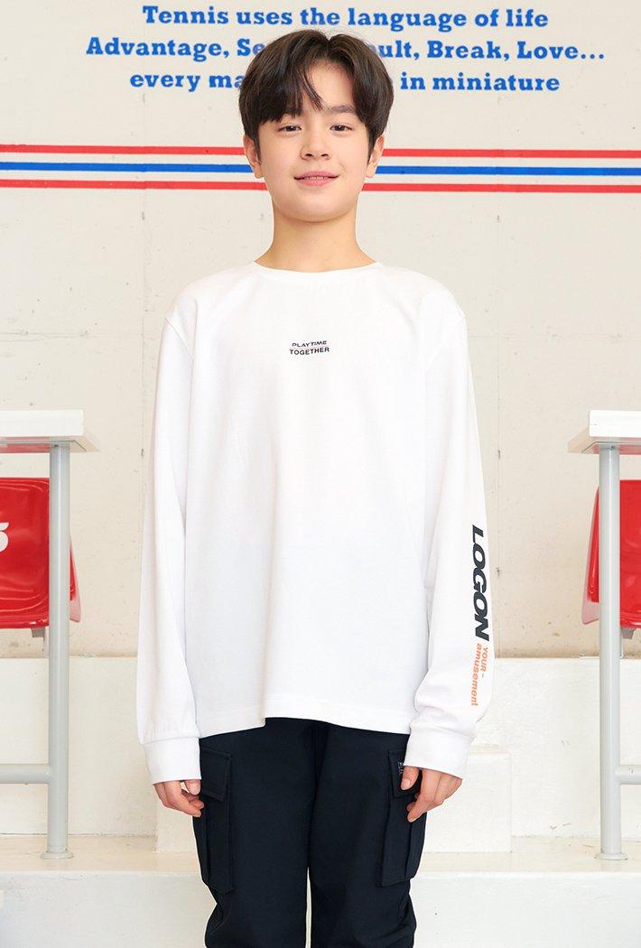 남아 소매 그래픽 포인트 티셔츠-AAJB5116B01