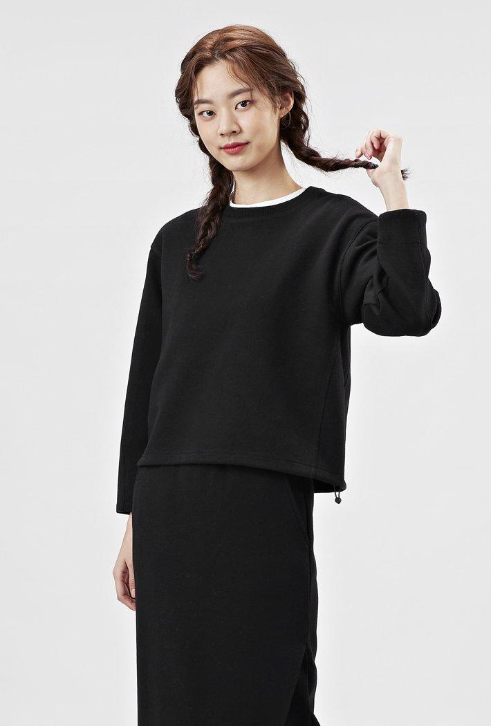 여성 밑단 스트링 절개 티셔츠AARG5161B03
