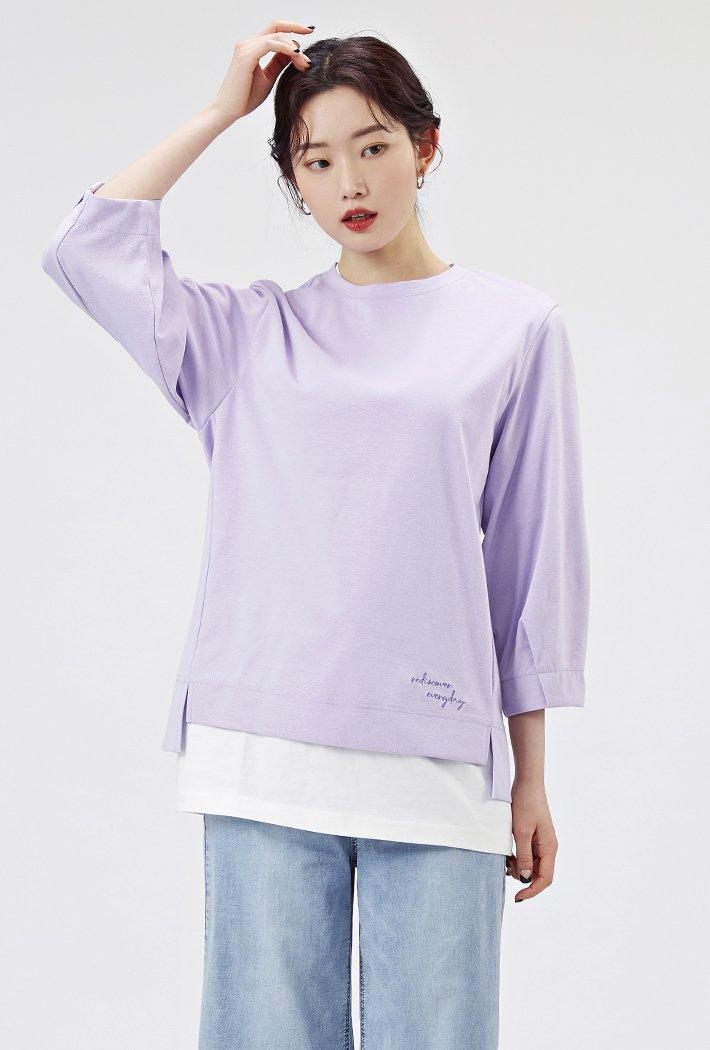 여성 볼륨소매 티셔츠AARG5162B0T