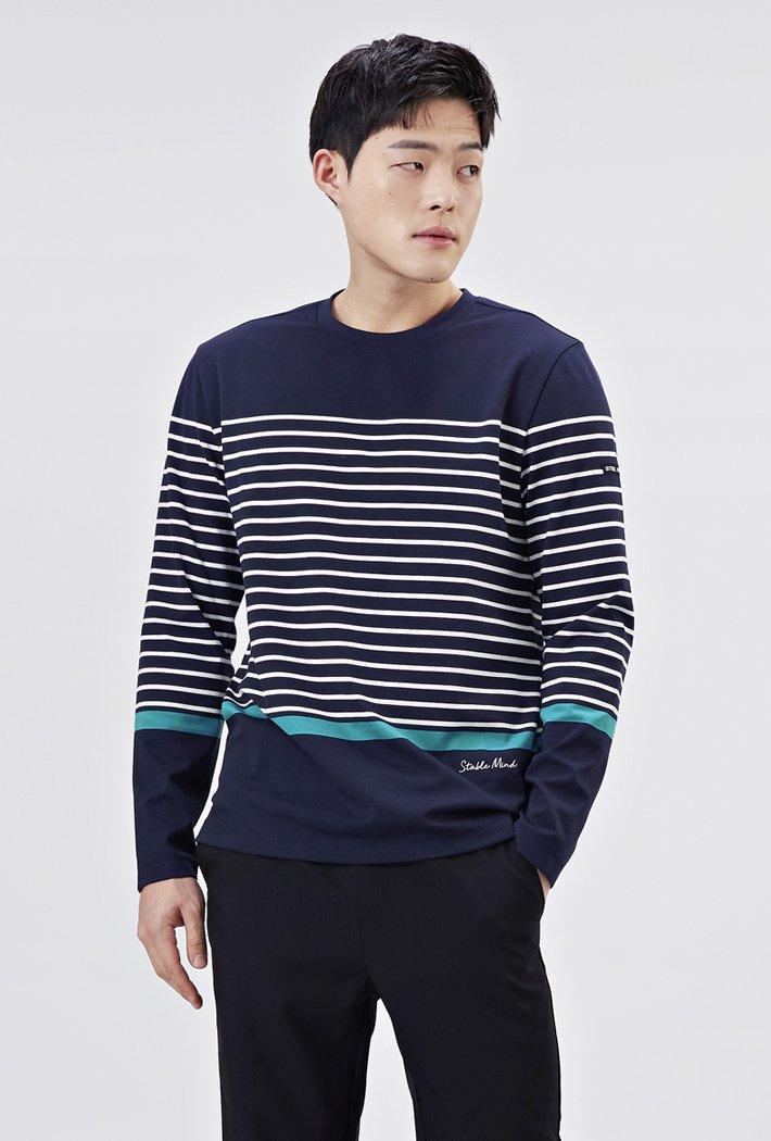 남성 포인트 스트라이프 티셔츠 AARK5113B04