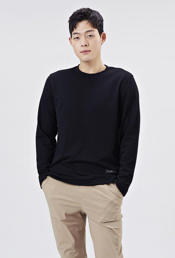 남성 소매트임 포인트 티셔츠-AARK5114B03
