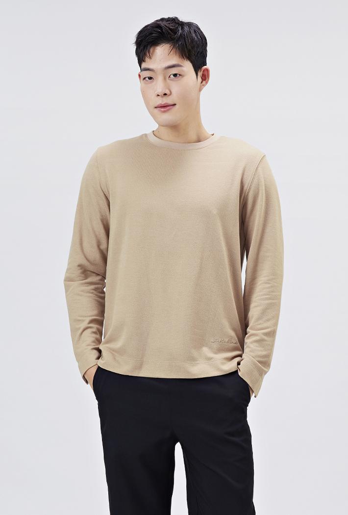 남성 소매트임 포인트 티셔츠-AARK5114B0X