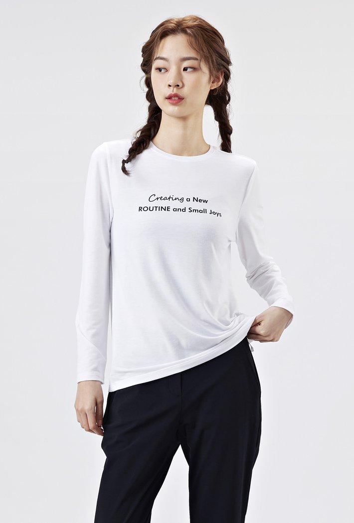 여성 레터링 데일리 티셔츠AAZG5104B01