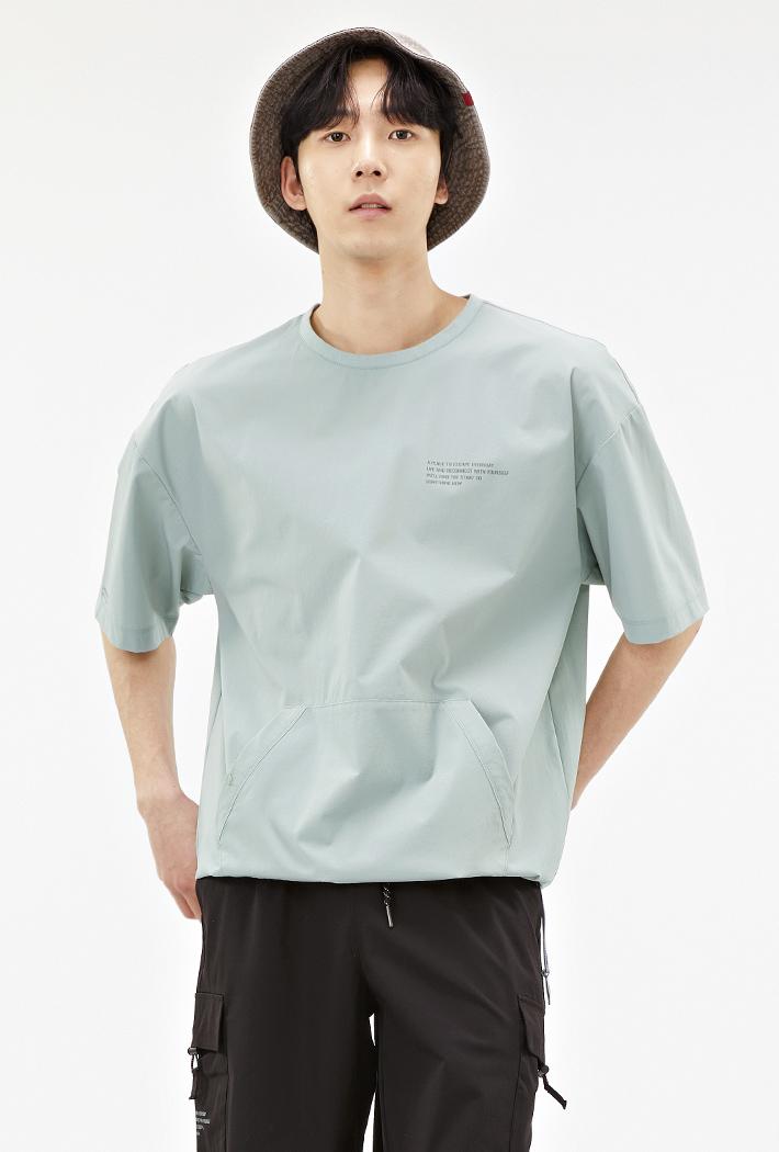 남성 유틸리티 포켓 오버핏 티셔츠-ABAK5837D0S