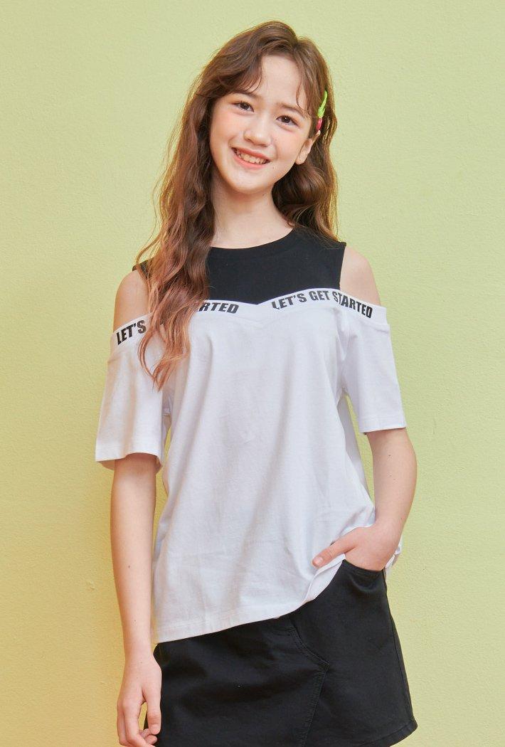 여아 어깨 트임 티셔츠-ABJG5832D01