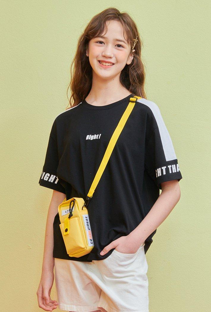 여아 소매 배색 포인트 티셔츠-ABJG5833D03