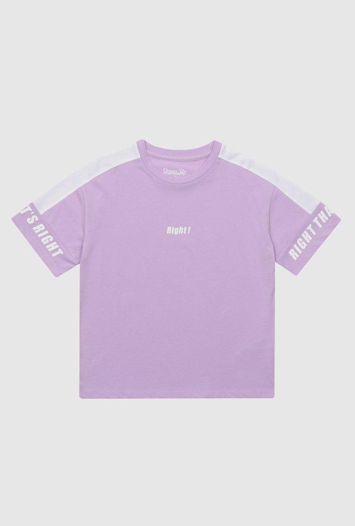 여아 소매 배색 포인트 티셔츠-ABJG5833D0T