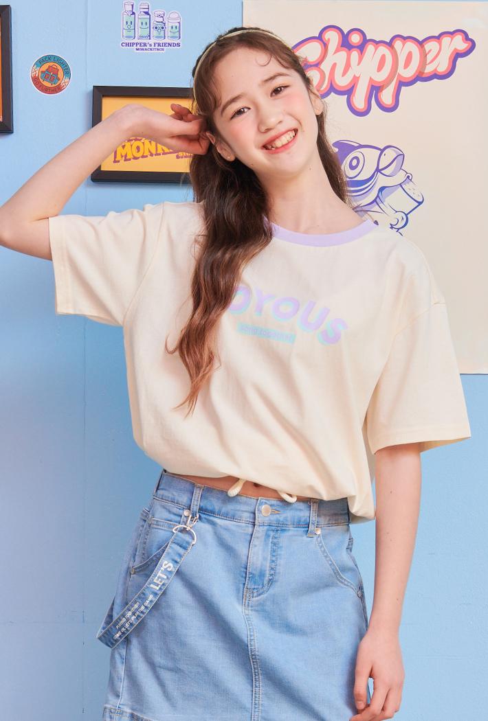 여아 밑단 스트링 티셔츠-ABJG5835D0A