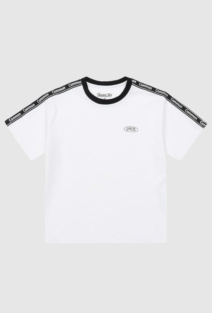 여아 TAPE 장식 반팔 티셔츠-ABJG5875D03