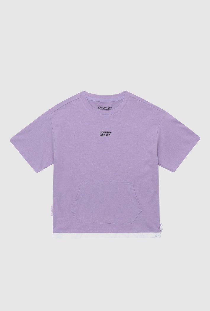 여아 밑단 스트링 포인트 반팔 티셔츠-ABJG5876D0T
