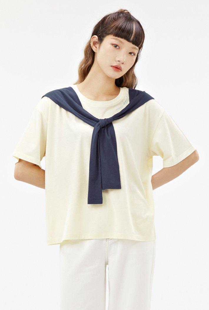 여성 숄 레이어드 티셔츠-ABRG5852D0A