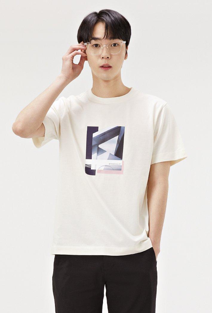 남성 원포인트 모던 그래픽 티셔츠ABRK5826D05
