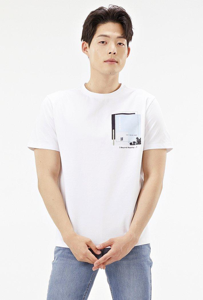 남성 포토믹스 그래픽 티셔츠ABRK5827D01