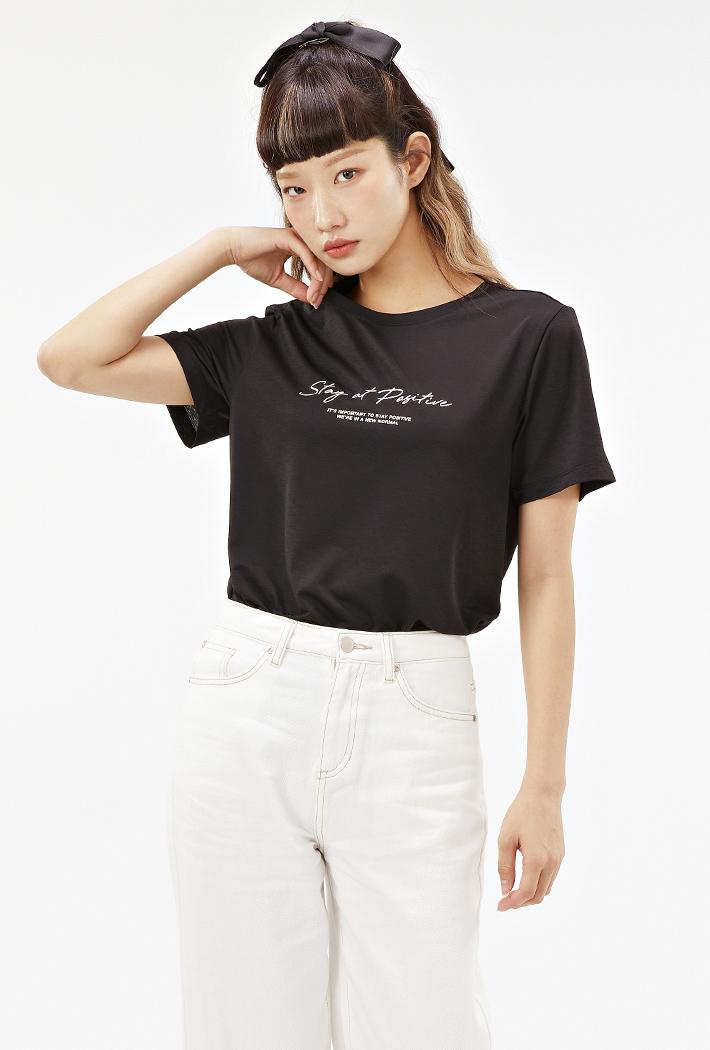 여성 데일리 아이스 티셔츠-ABZG5814D03