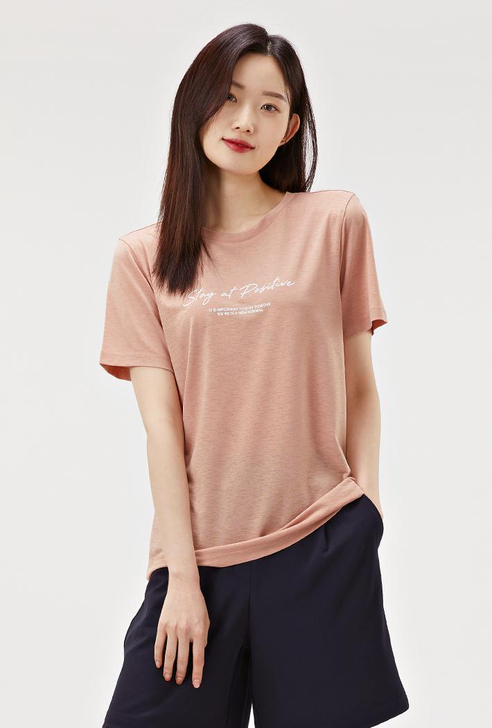 여성 데일리 아이스 티셔츠-ABZG5814D0K