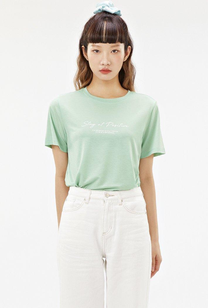 여성 데일리 아이스 티셔츠-ABZG5814D0S