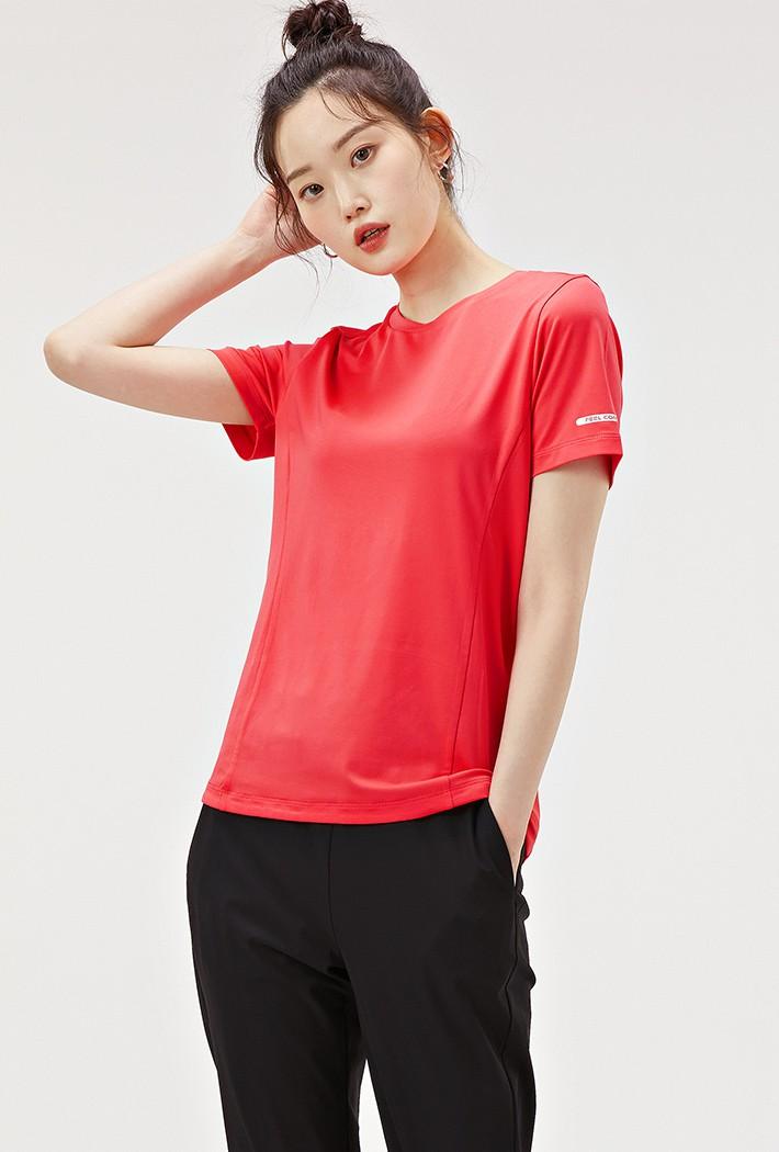 여성 슬림 쿨테크 반팔 티셔츠-ABZG5815D0P