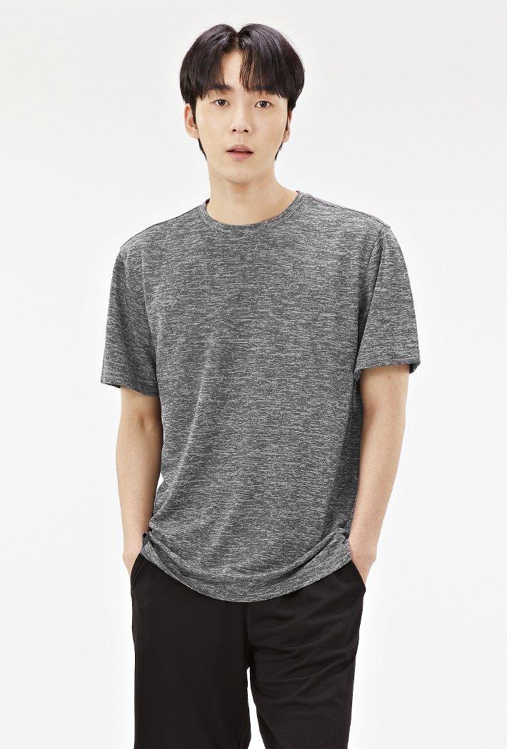 남성 쿨라이트 베이직 티셔츠-ABZK5806D0B