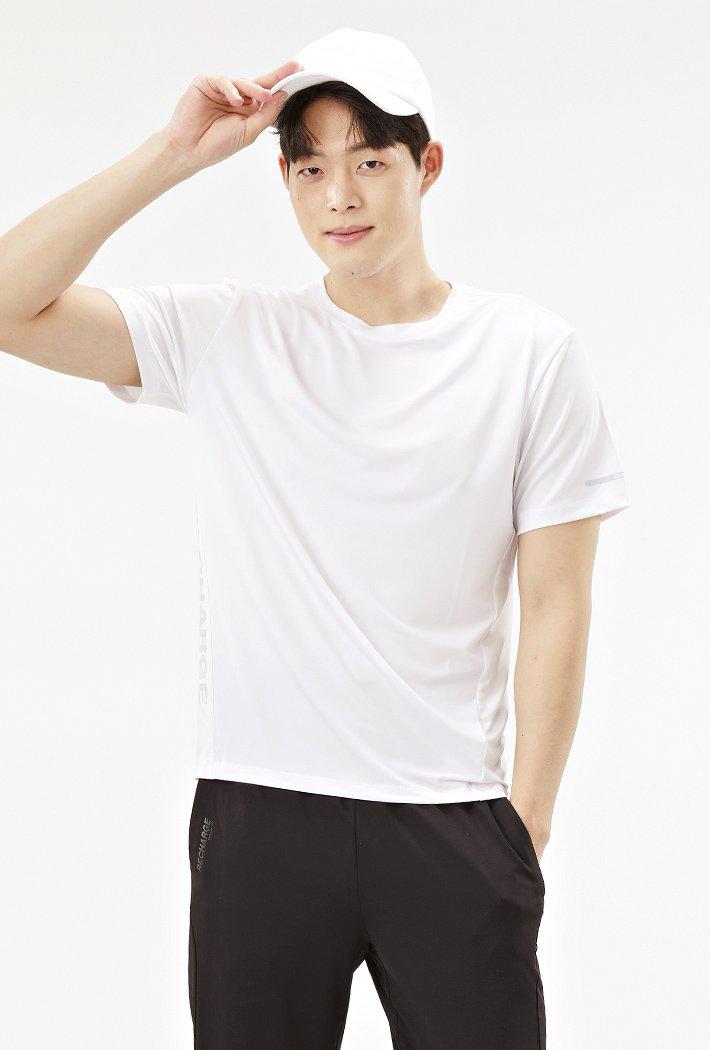 남성 그래픽 쿨테크 반팔 티셔츠-ABZK5809D01