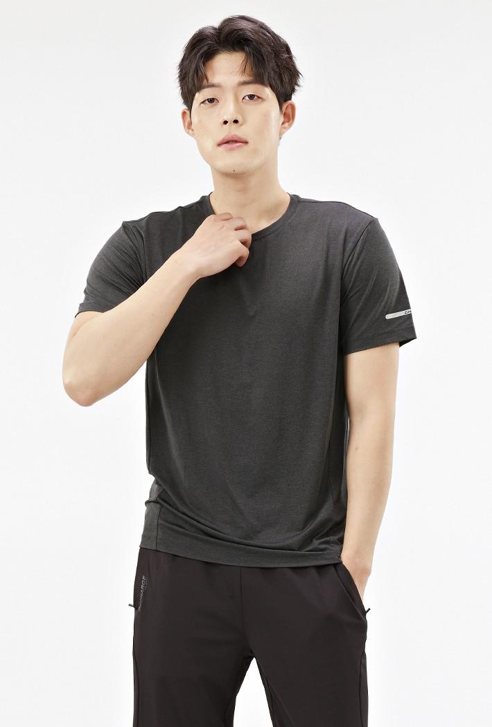 남성 그래픽 쿨테크 반팔 티셔츠-ABZK5809D0L