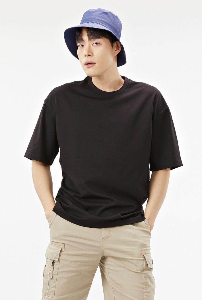 공용 오버핏 데일리 5부 티셔츠-ABZU5804C03