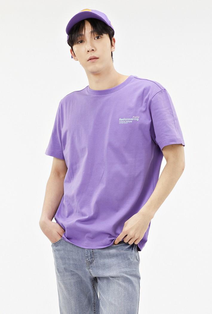 공용 데일리 그래픽 티셔츠-ABZU5805C0T