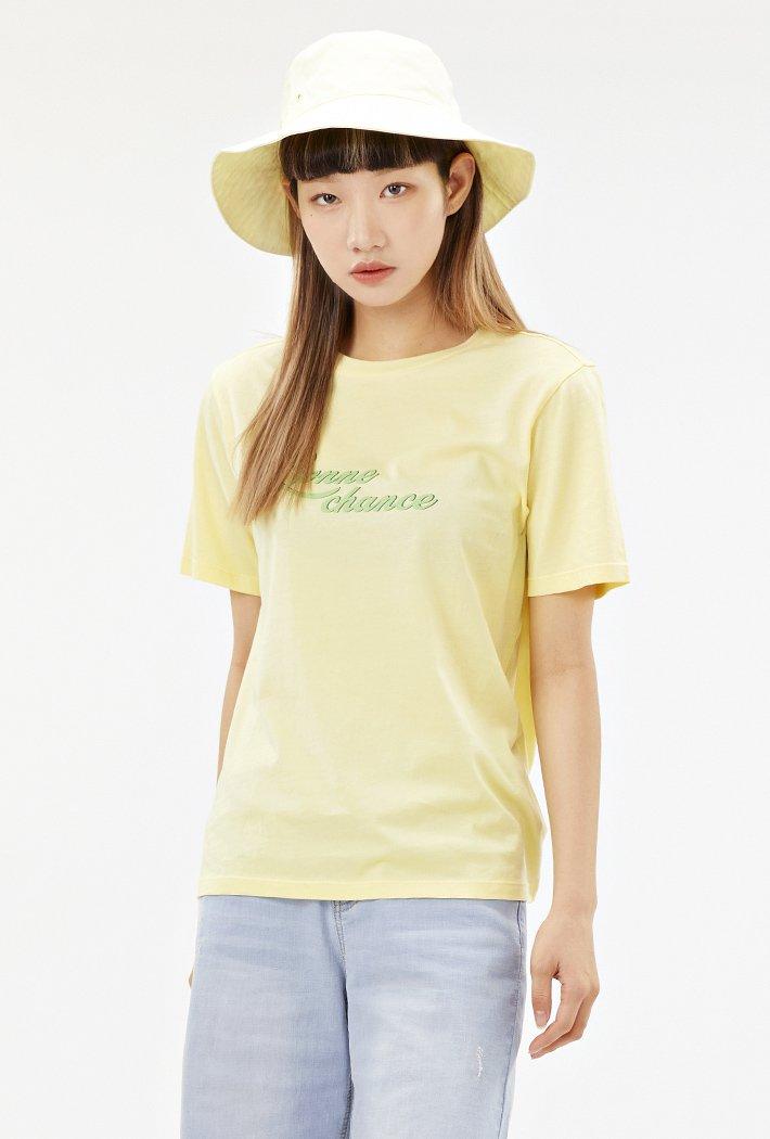 여성 컬러 그래픽 티셔츠-ACAG5870E06