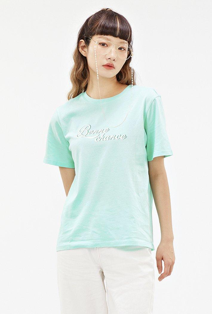 여성 컬러 그래픽 티셔츠-ACAG5870E0S