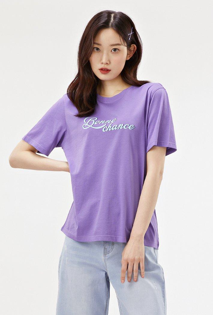 여성 컬러 그래픽 티셔츠-ACAG5870E0T