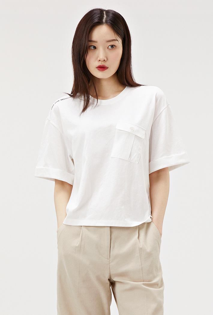 여성 우븐포켓 유틸리티 티셔츠-ACAG5877F0A