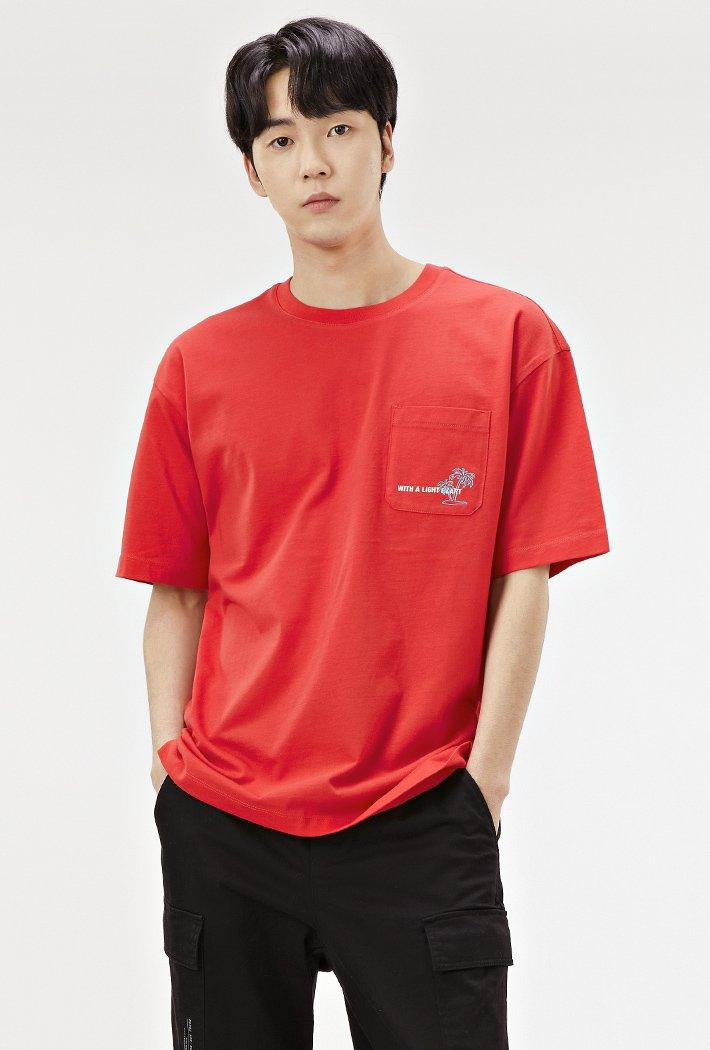 남성 세미오버핏 썸머 그래픽 티셔츠-ACAK5834E07