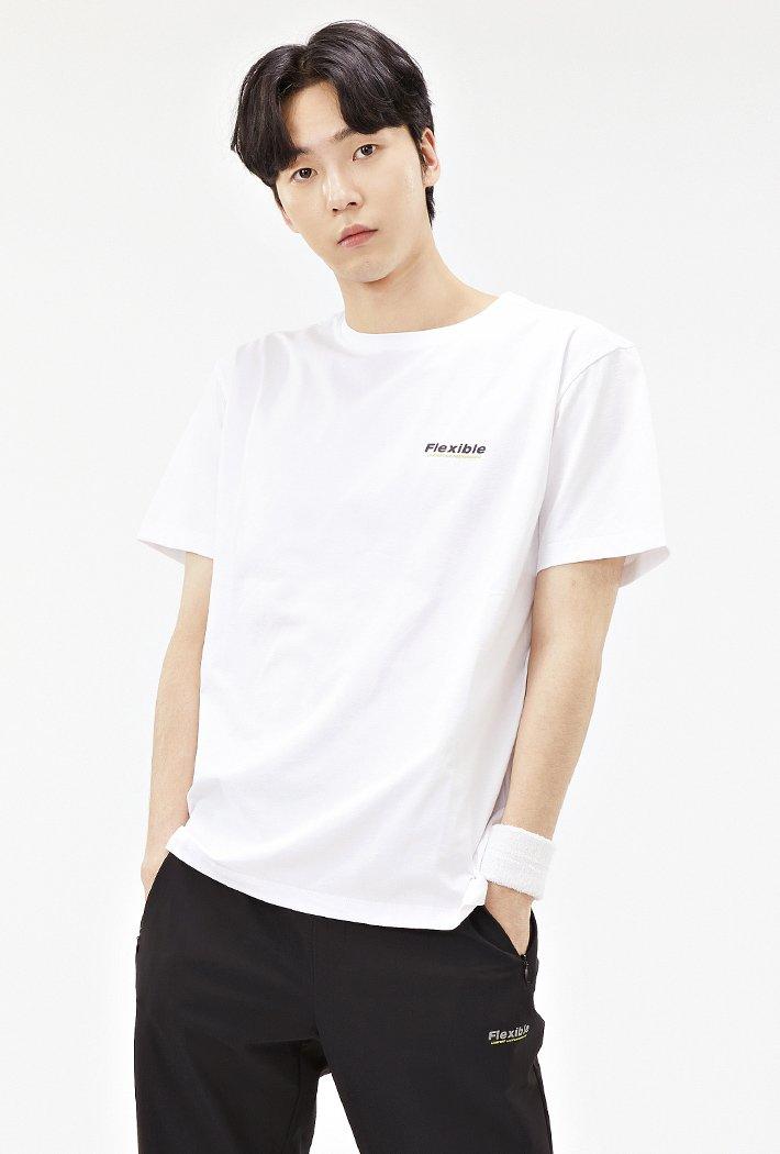 남성 스포티브 그래픽 반팔 티셔츠-ACAK5841E01