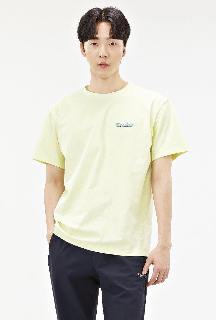 남성 스포티브 그래픽 반팔 티셔츠-ACAK5841E06