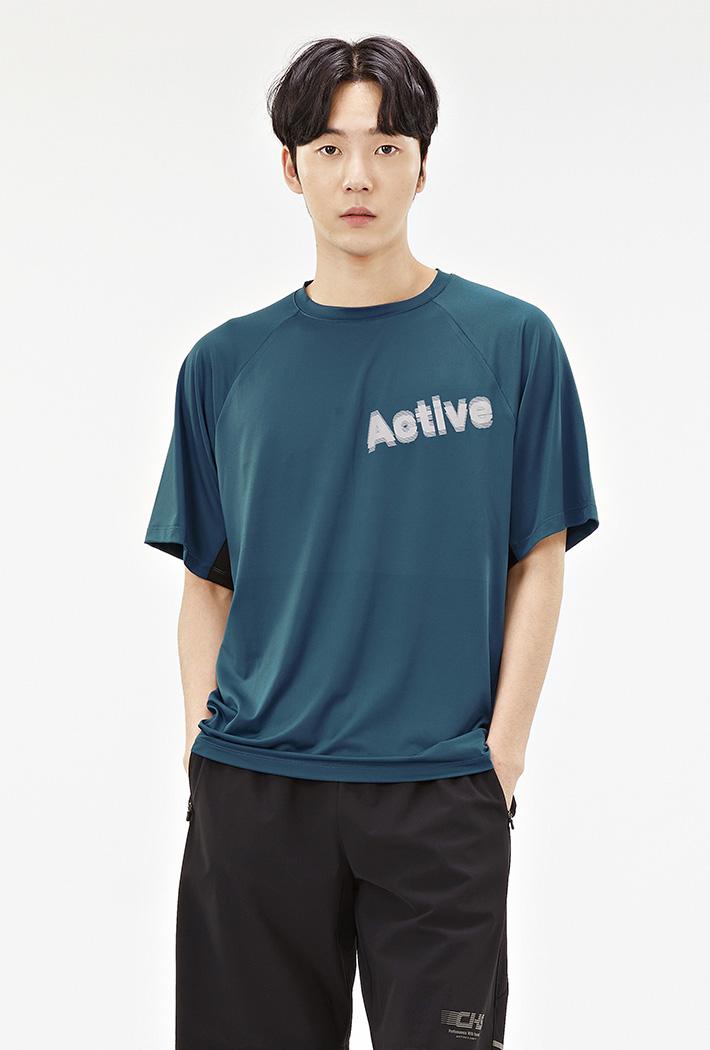 남성 스포티브 반팔 티셔츠-ACAK5842E0G