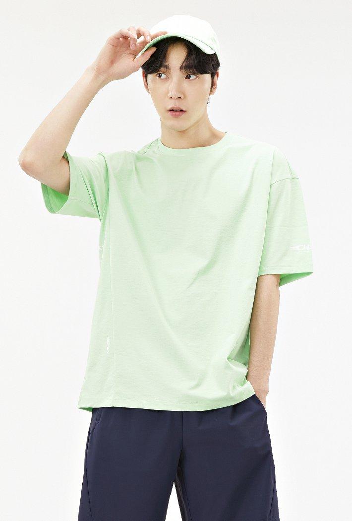 남성 스포티브 그래픽 티셔츠-ACAK5843E0Y