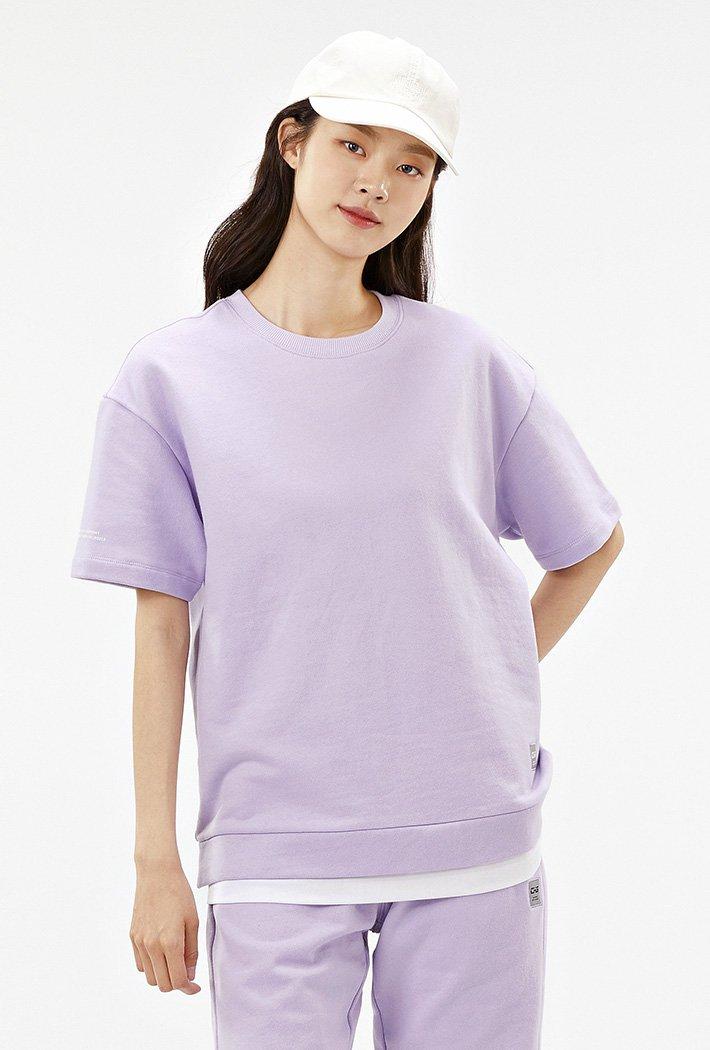 공용 오버핏 와펜 레이어드 티셔츠-ACAU5846F0T