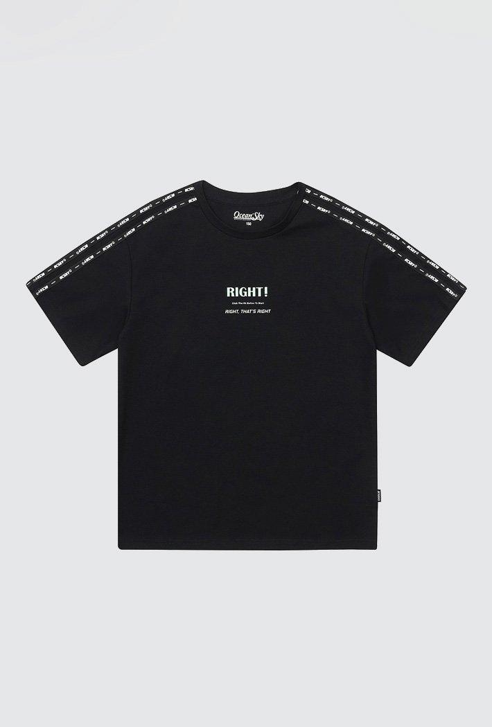 남아 테잎 포인트 티셔츠-ACJB5874E03