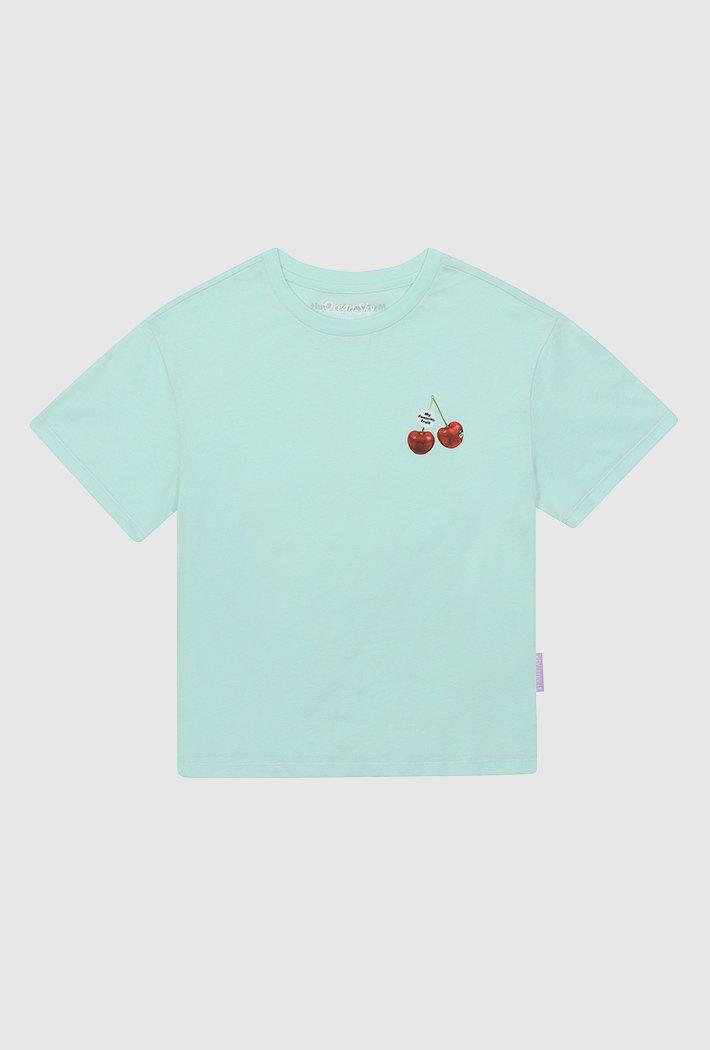 여아 체리 그래픽 포인트 티셔츠-ACJG5838E0S