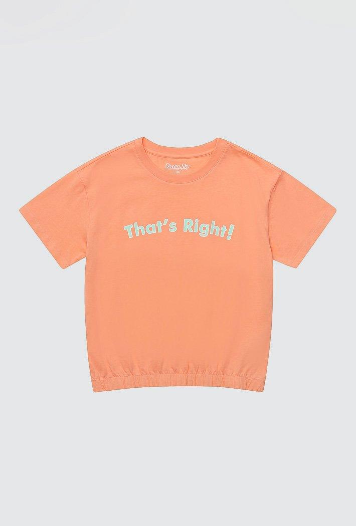 여아 루즈핏 크롭 티셔츠-ACJG5843E0Q