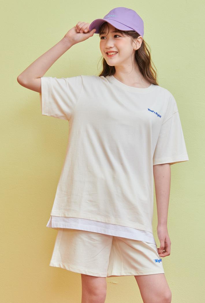 여아 레이어드 반팔 티셔츠-ACJG5861E0A