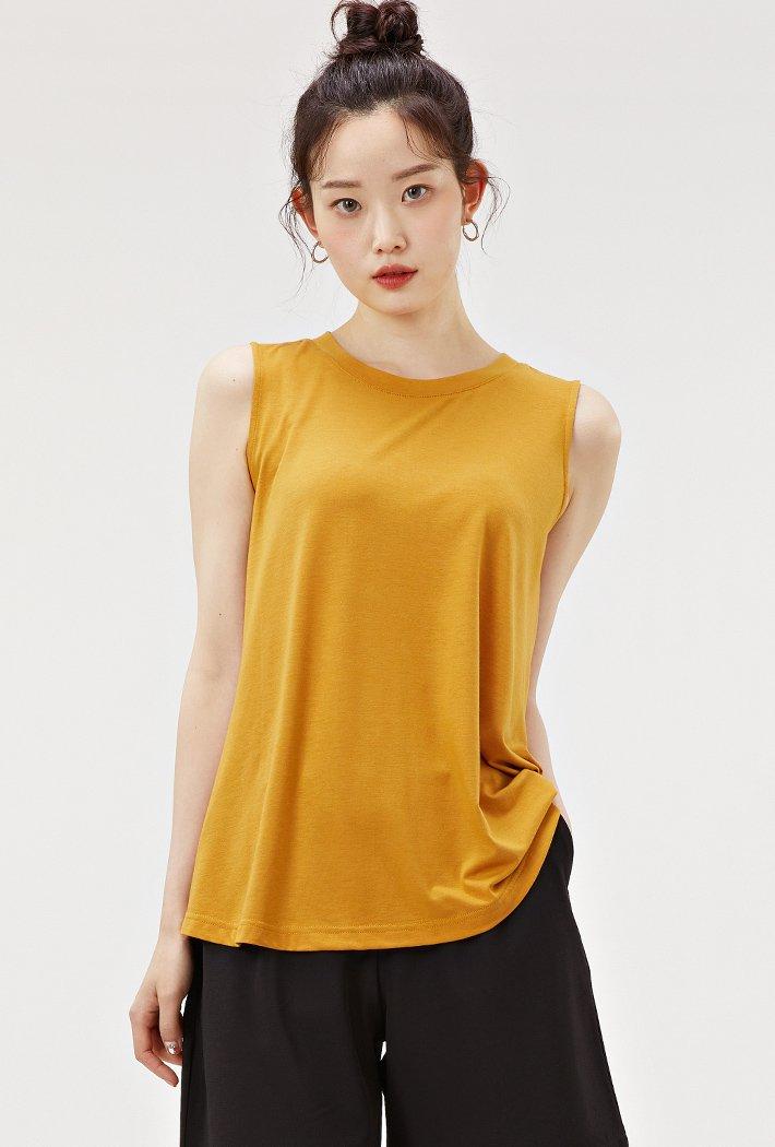 여성 A라인 플레어 슬리브리스 티셔츠-ACZG5902E0F