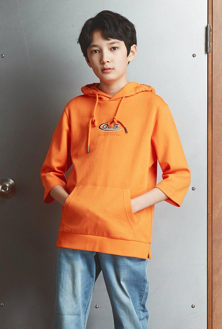남아 오버핏 등판 그래픽 7부 후드 티셔츠KAJB5119B0Q