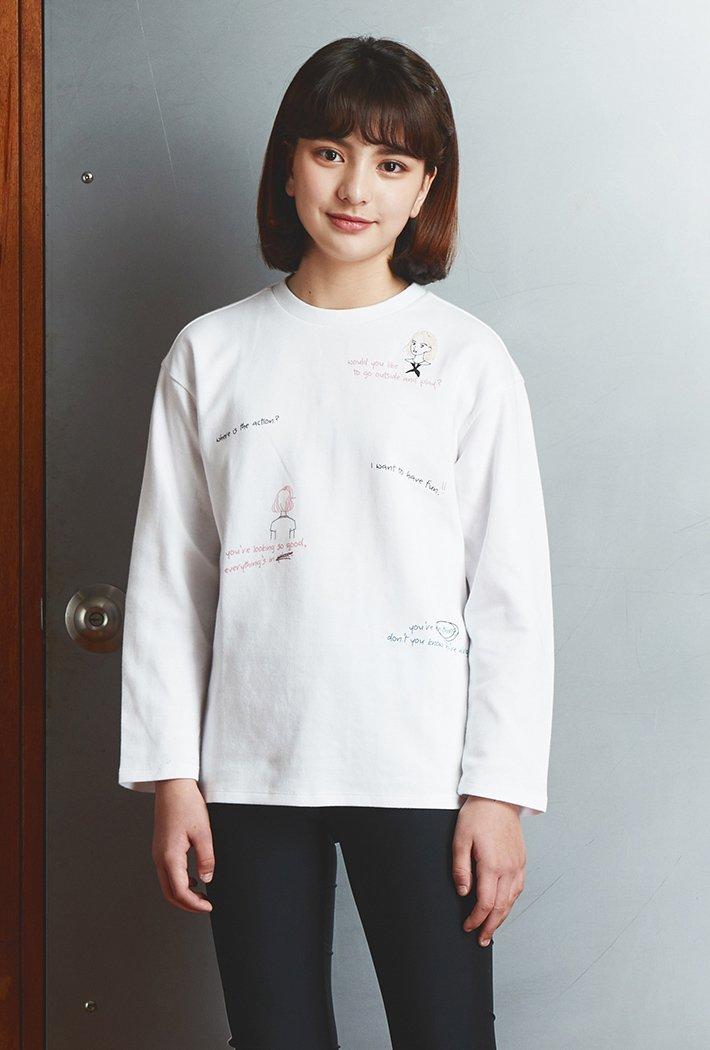 여아 자수 포인트 티셔츠KAJG5156B01