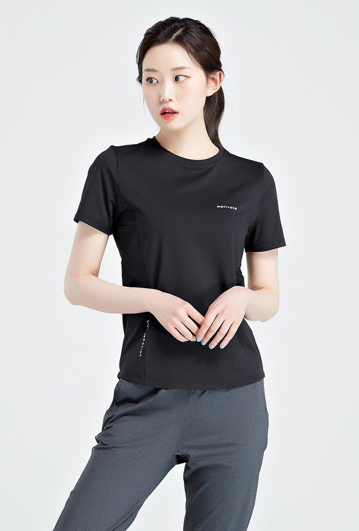 여성 쿨테크 라운드 반팔 티셔츠-KBZG5814D03