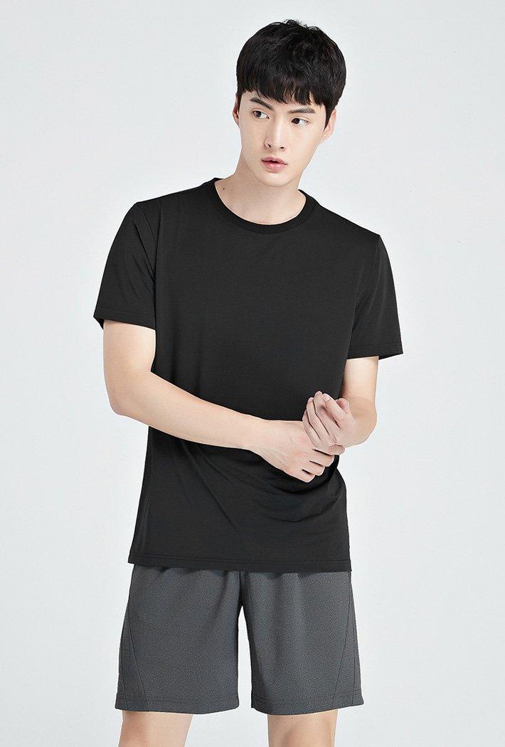 남성 쿨테크 라운드 반팔 티셔츠-KBZK5807D03