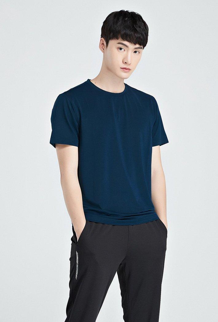 남성 쿨테크 라운드 반팔 티셔츠-KBZK5807D0G